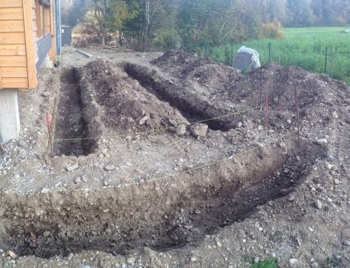 Fundamente für Terrassen